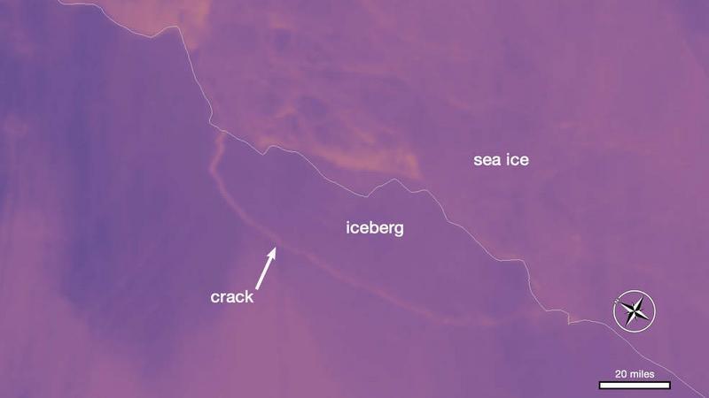 Gigantyczna góra lodowa oderwała się od Antarktydy