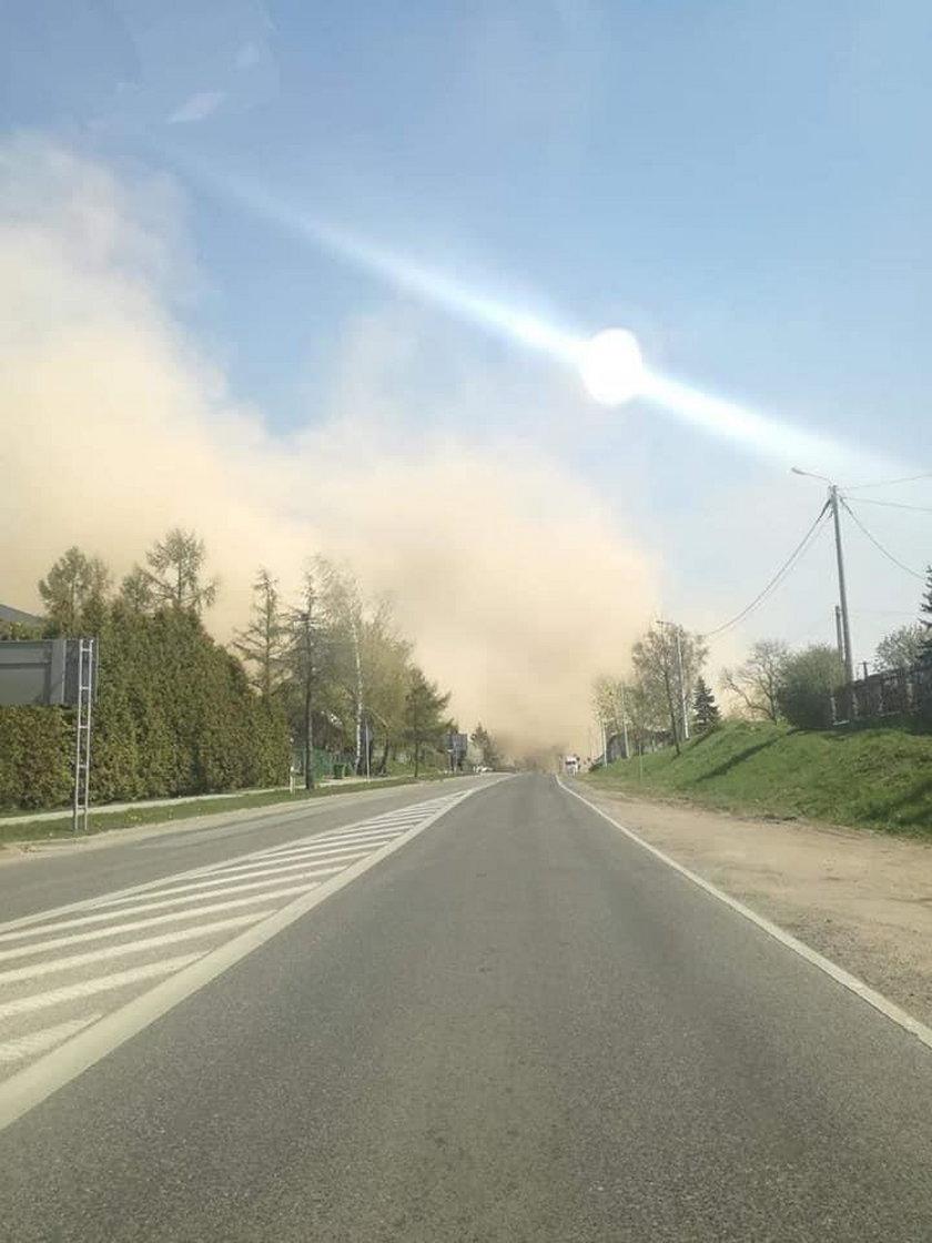Burza piaskowa na Mazowszu