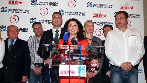 Koalicija DSS-Dveri i dalje na klackalici