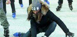 """Stylowa Siwiec """"tańczy"""" na lodzie"""