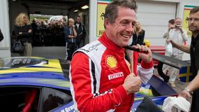 Hugh Grant wziął udział w wyścigu samochodowym, kibicował mu dwuletni syn