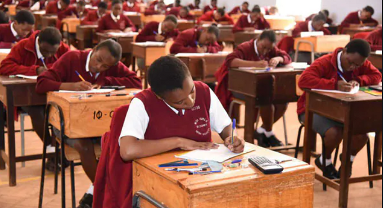 Students sitting for examinations