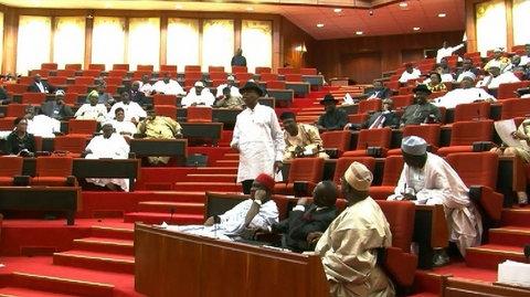 The Nigerian Senate during plenary
