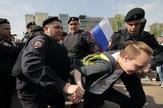 Moskva, protest, hapšenje, EPA -  MAXIM SHIPENKOV