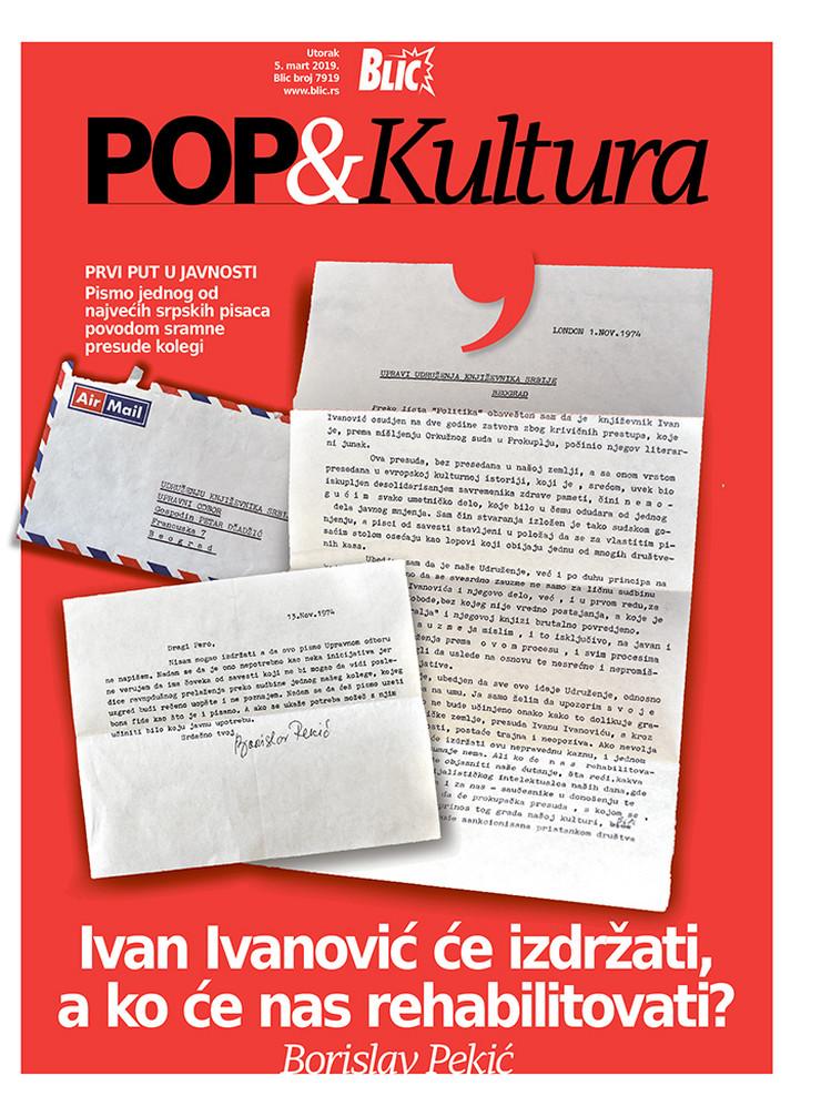 POP kultura Cover Bora Pekić pismo