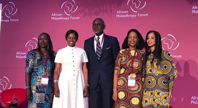 Nyokabi Kenyatta (extreme left) with fellow directors at the Kenyatta Trust