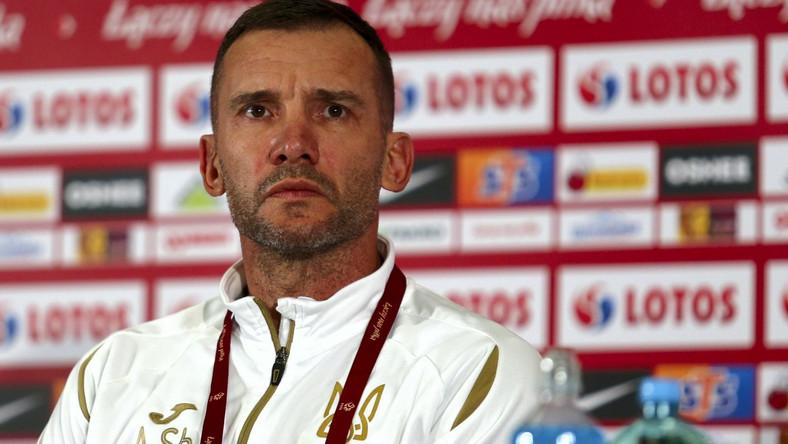 Trener piłkarskiej reprezentacji Ukrainy Andrij Szewczenko