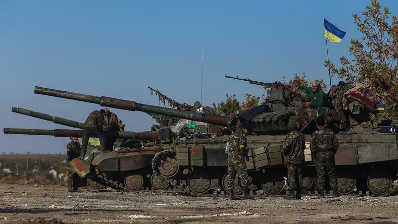 Czołgi walczące na wschodzie Ukrainy