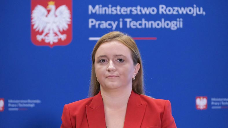 Wiceminister rozwoju, pracy i technologii Olga Semeniuk