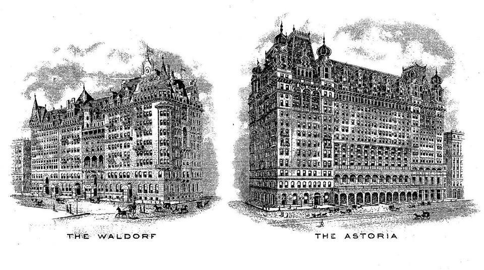Drugi, 17-piętrowy hotel Astoria, należał do jego kuzyna Johna Jacoba Astora IV. Otwarto go w 1897 roku. Potem oba obiekty połączył pasaż.