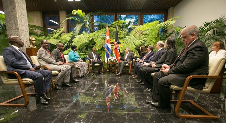 Kenyan delegation to Cuba.