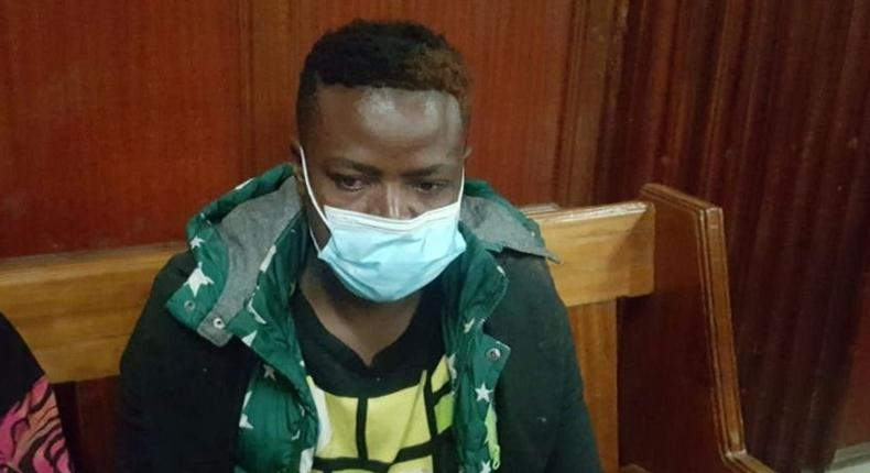 Suspect Wycliffe Orinda who left a courtroom in stitches after confessing that he loves bhang, vodka and beer