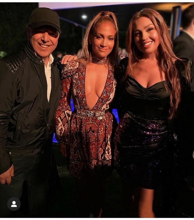 Talija sa Dženifer Lopez i suprugom