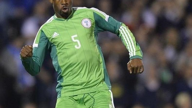 Nigeria's Efe Ambrose controls the ball during their international friendly soccer match against Scotland at Craven Cottage in London May 28, 2014.