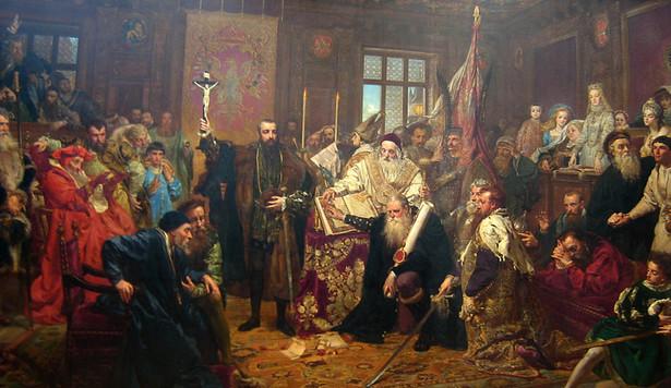 """Jan Matejko """"Unia lubelska"""", 1869 r."""