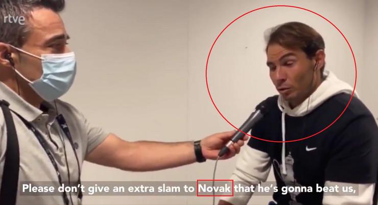 Rafael Nadal i novinar