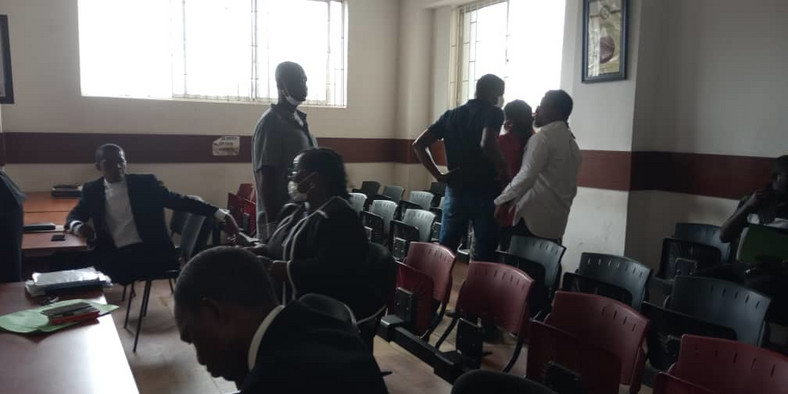 Photos from the arraignment of Funke Akindele and husband, JJC Skillz