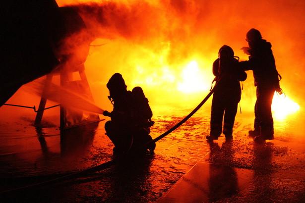 Trudność akcji gaśniczej wynikała z dużej powierzchni objętych pożarem pryzm oraz zadymienia i temperatury