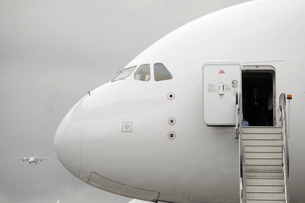 Kabina Airbusa SAS A380 zaprezentowanego na targach lotniczych Farnborough 2012