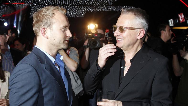 Borys Szyc i Bogusław Linda