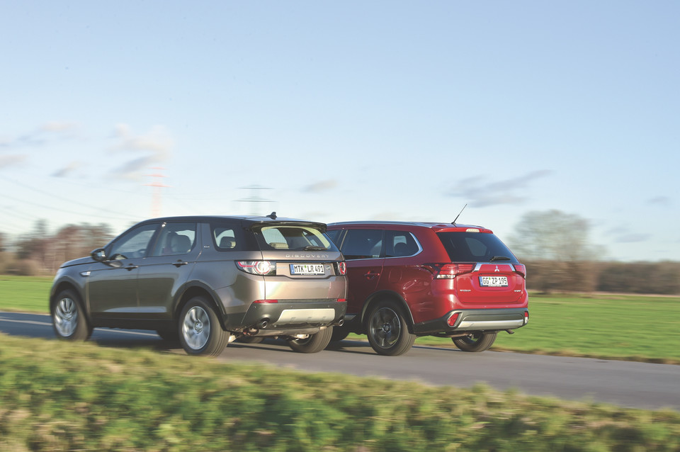 Land Rover Discovery Sport kontra Mitsubishi Outlander
