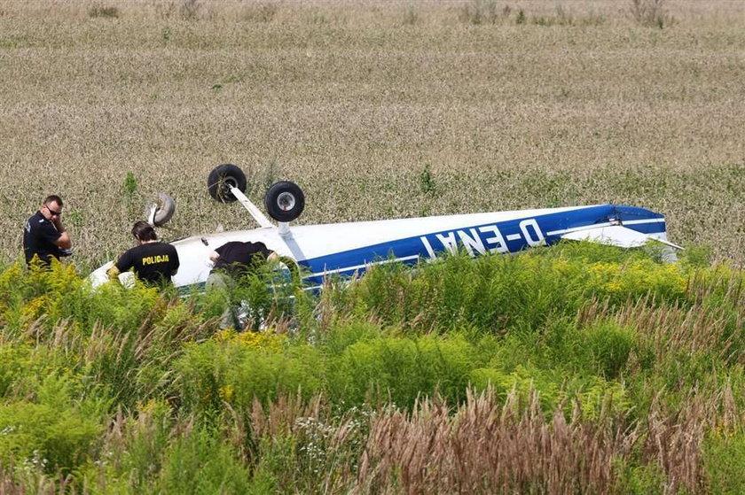 Spadł samolot pod Świdnikiem