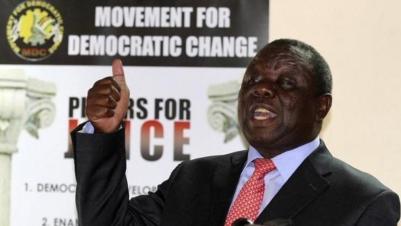Zimbabwe opposition leader Tsvangirai says has cancer of the colon