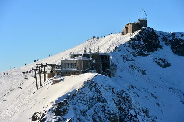 Stacje górne Gąsienicowej i Kasprowego, na szczycie obserwatorium IMGW