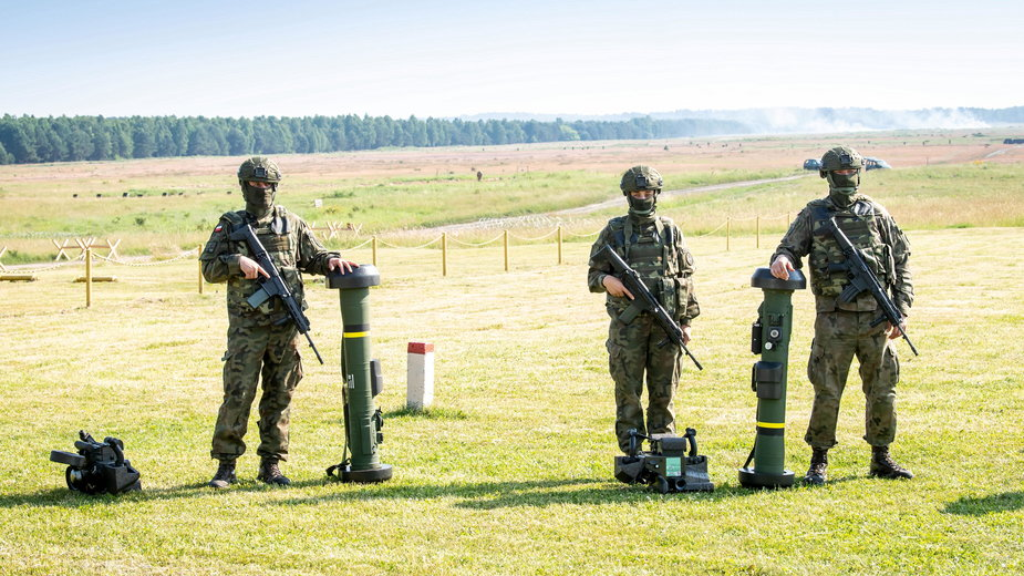 Pierwsze w Wojsku Polskim strzelanie z systemu JAVELIN na poligonie Kijewo k. Torunia