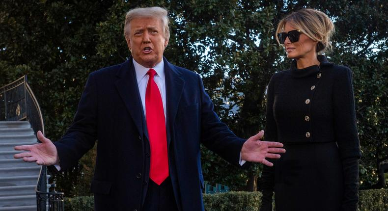 Former President Donald Trump and former first lady Melania Trump.