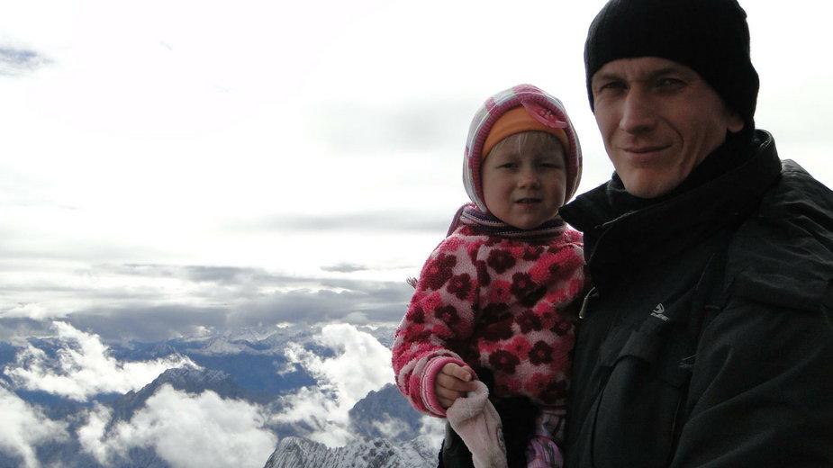 Przemek Gadaliński z córką