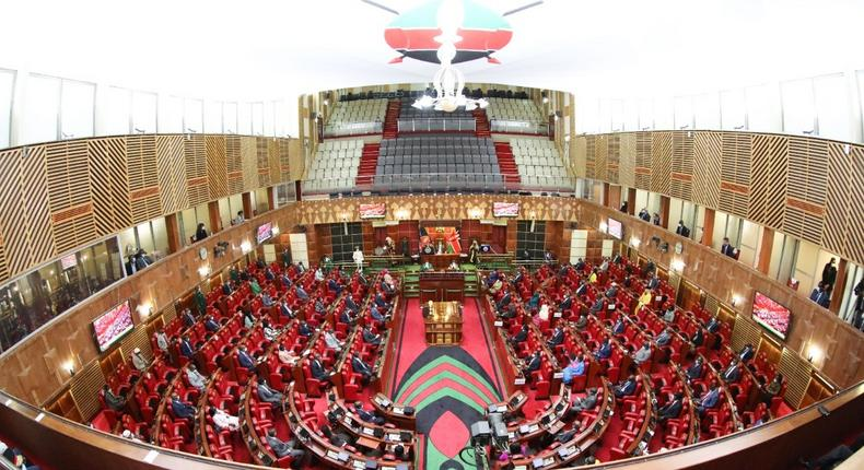 Kenyan National Assembly chambers during a past session