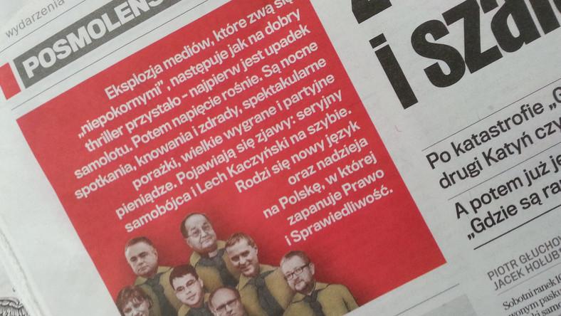 """""""Posmoleńskie dzieci"""" to odpowiedź na wydaną niedawno przez Dorotę Kanię, Jerzego Targalskiego i Macieja Marosza książkę """"Resortowe dzieci"""", o korzeniach, pochodzeniu i karierze polskich dziennikarzy z tzw. salonu. Książkę skrytykowano za przekłamania i manipulacje."""