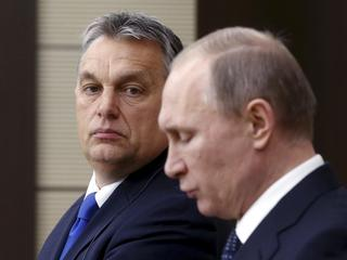 Russian President Putin and Hungarian Prime Minister Orban attend joint news conference following th