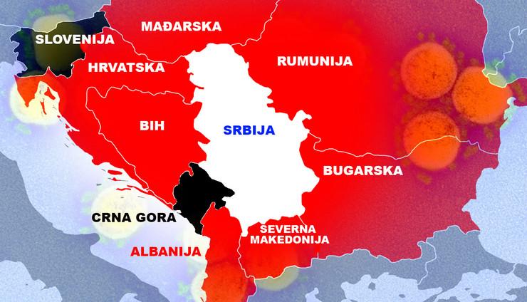 srbija, crna gora, slovenija, korona virus
