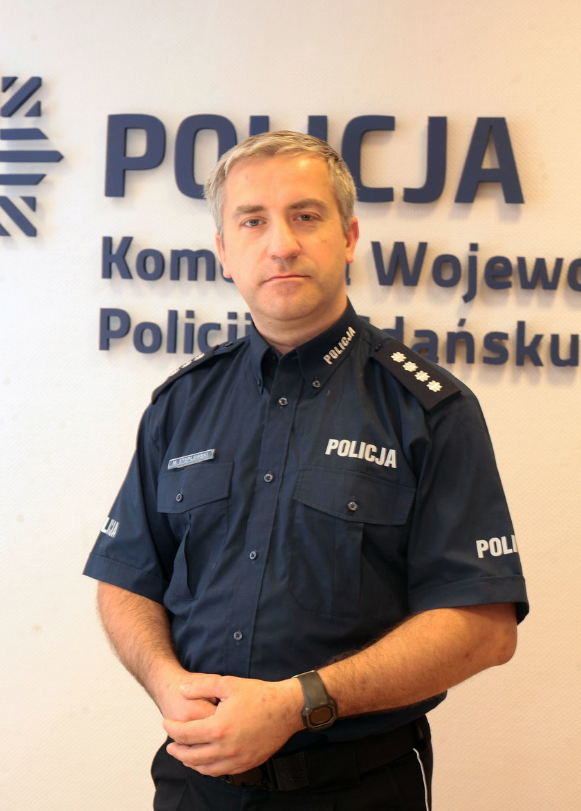Podinsp. Maciej Stęplewski, rzecznik prasowy Komendy Wojewódzkiej Policji w Gdańsku