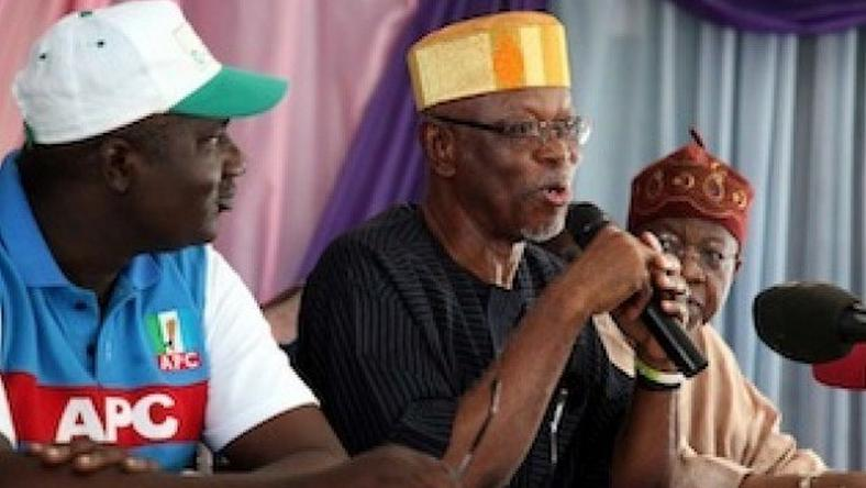 APC national chairman, John Oyegun (middle)