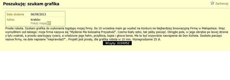 fot. screen z serwisu gumtree.pl