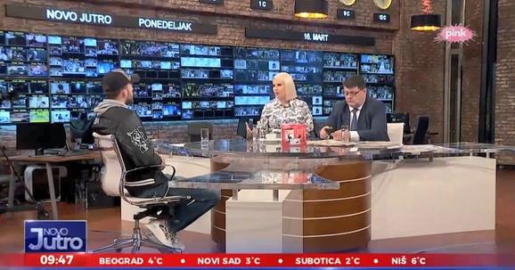 Veljko Ražnatović u jutarnjem programu