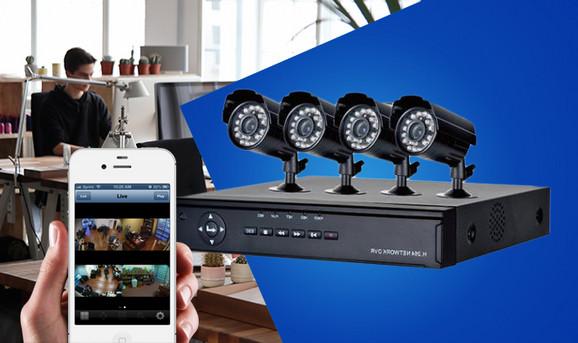 Video nadzor sa 4 kamere
