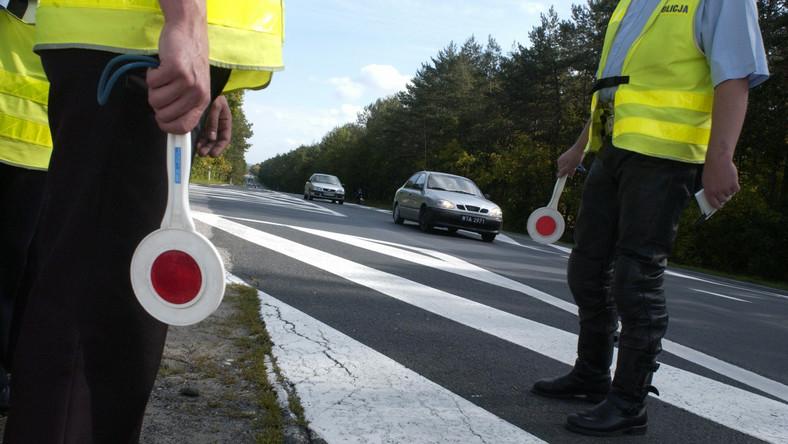 Kontrola drogowa policji i ITD