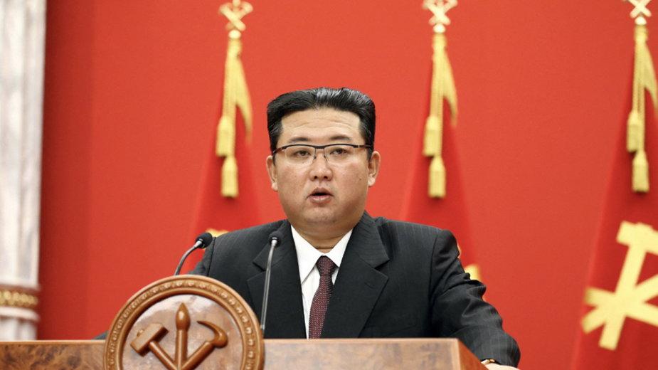 Przywódca Korei Północnej Kim Dzong Un uczcił 76. rocznicę powstania partii rządzącej krajem - Partii Robotniczej Korei (WPK) - w niedzielę 10 października 2021 r.