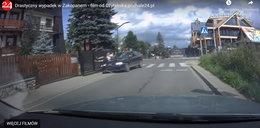 Makabryczny wypadek w Zakopanem. Rozpędzone audi wjechało w pieszego. Nagranie mrozi krew w żyłach