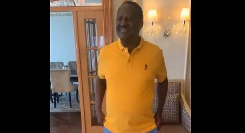 Raila Odinga in Dubai