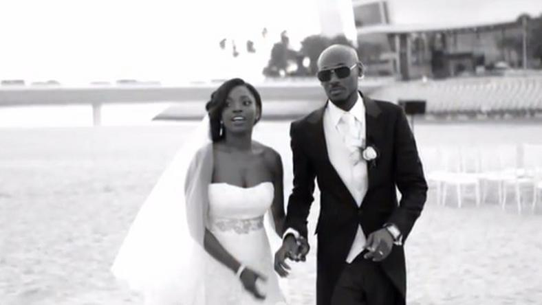 Annie and 2face Idibia on their wedding day