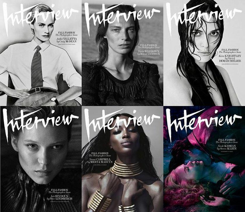"""6 okładek wrześniowego """"Interview"""""""