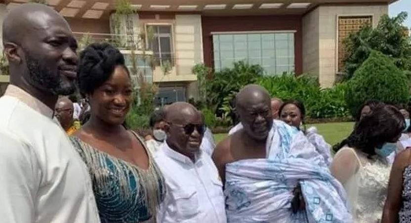 Maxwell Kofi Jumah's son marries Akufo-Addo's 3rd daughter at the presidency (videos & photos)