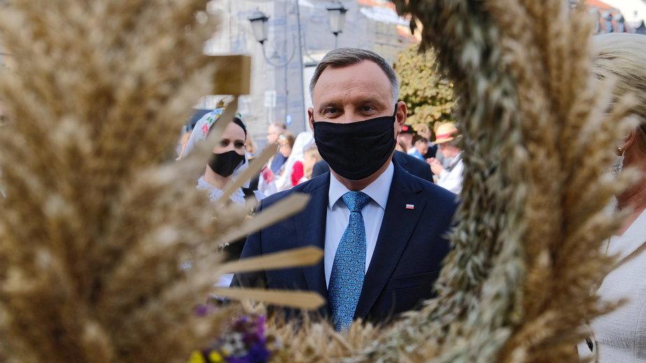 Andrzej Duda podczas spotkania z grupami wieńcowymi. Warszawa, 20.09.2020 r.
