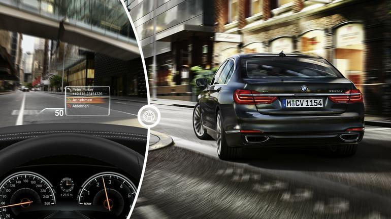 BMW 7 z zaawansowaną nawigacją, która może sterować skrzynią biegów