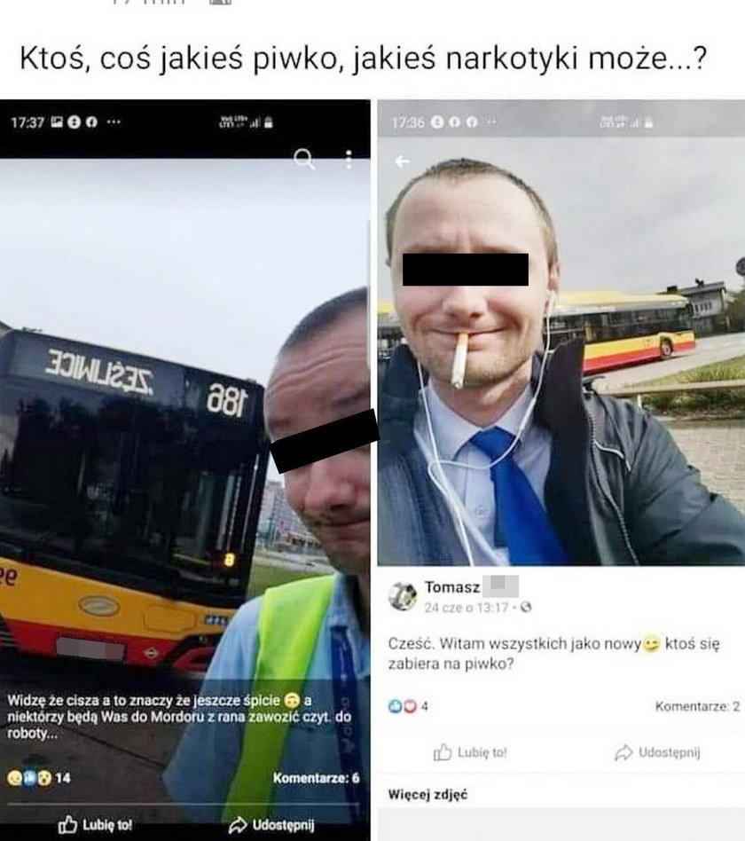 Autobus spadł z mostu w Warszawie
